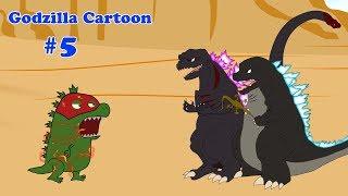 Godzilla, Shin Godzilla, Dinosaur - THUNDER RED - Funny #5 | Godzilla Cartoons