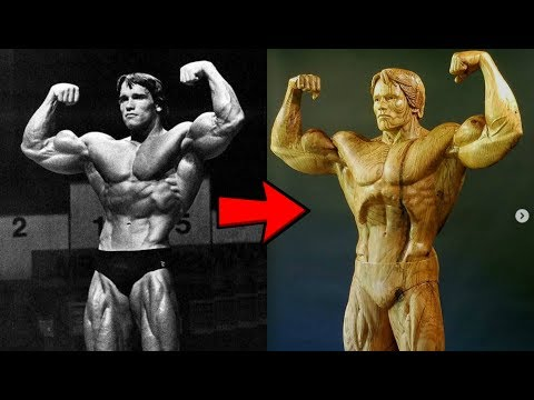 Woodcarver Creates Incredible Sculpture of Arnold Schwarzenegger