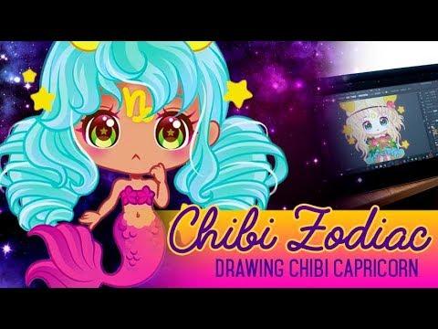 Zodiac Chibis - Capricorn [ vector art ]