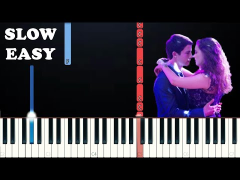 13 Reasons Why  The Night We Met SLOW EASY PIANO TUTORIAL Lord Huron