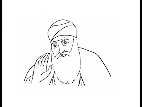 How To Draw Guru Nanak Dev Ji Face Drawing Step By Step