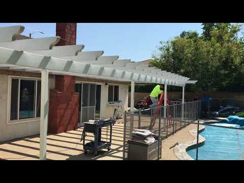 Valencia Alumawood Lattice Shade bar patio cover 53'