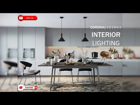#1 3ds Max Interior Render Tutorial (best Corona Lighting)   How To Learn 3ds Max Corona Renderer
