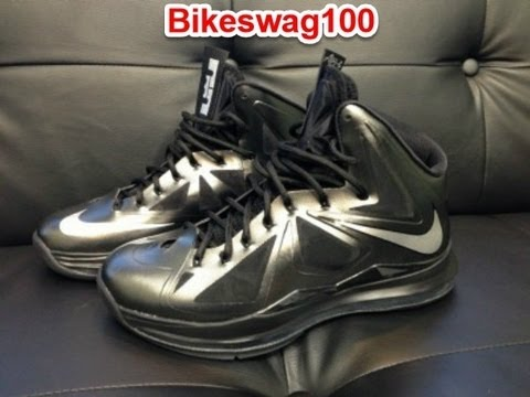 c599844ca37e New Nike Lebron 10 X Black Diamond Black Anthracite - YouTube