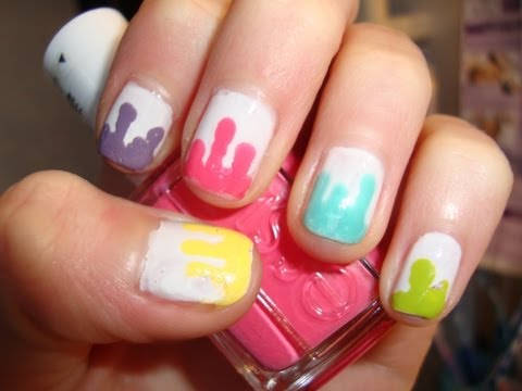 Tutorial Paint Drip Nails Youtube