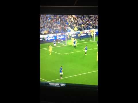 Diego costa vs Tim Howard. Chelsea vs Everton 30/8/14