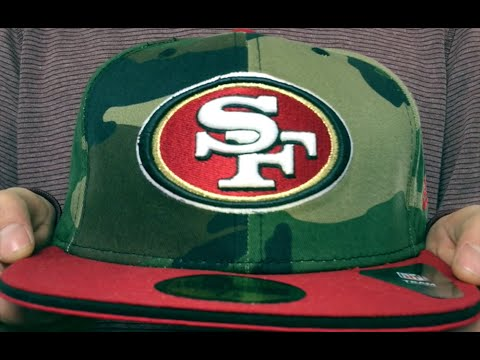 72f25aedcdb 49ers  2T SPLIT NFL TEAM-BASIC  Army-Red Fitted Hat by New Era - YouTube