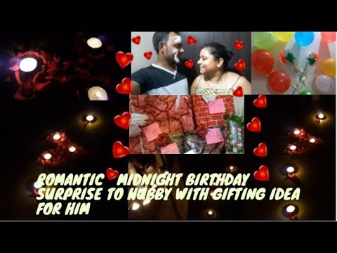 SURPRISE ROMANTIC MIDNIGHT BIRTHDAY CELEBRATION FOR HUSBAND