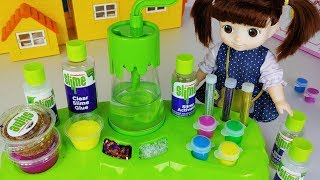 Baby Doll and colors Slime juice maker machine toys Jelly Slime mart play - 토이몽