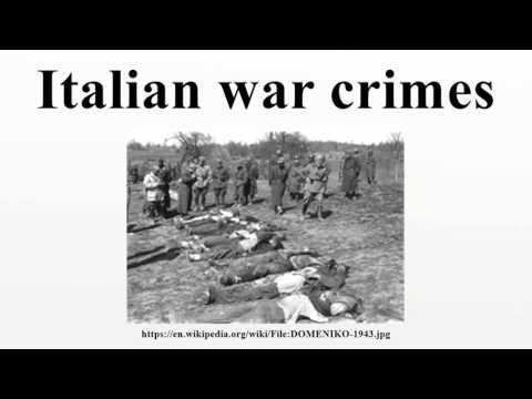 Italian war crimes