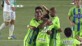 右サイドからのCKを島村 毅(湘南)が頭で流し込み、同試合での自身2点...
