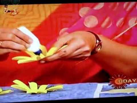 Siri Programme in Udaya TV, 24.01.2014 (Making Margarita flowers)