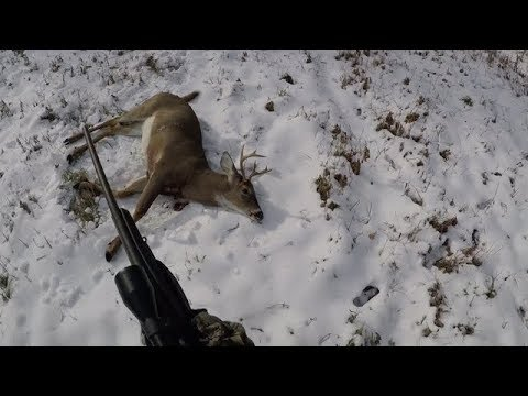 Unedited Hunt Footage. First Buck Down!! 6 Point Vermont Whitetail Deer.