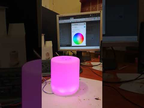 Diy nightlight with ESPHome inside and Home Assistant remote