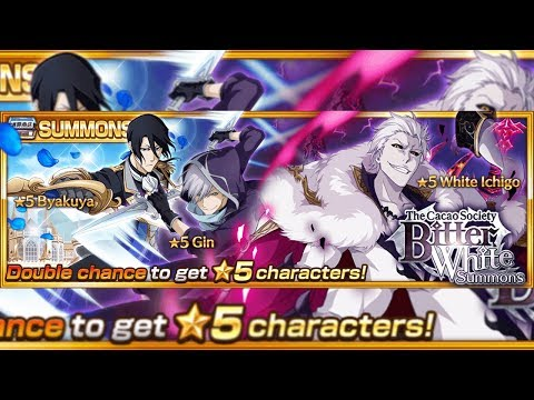 Bleach Brave Souls: Summons White Day Bitter White!!! White Ichigo, Gin e Byakuya!!! - Omega Play