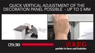 Snelle installatie d.m.v. AEG Perfect Fit scharnieren