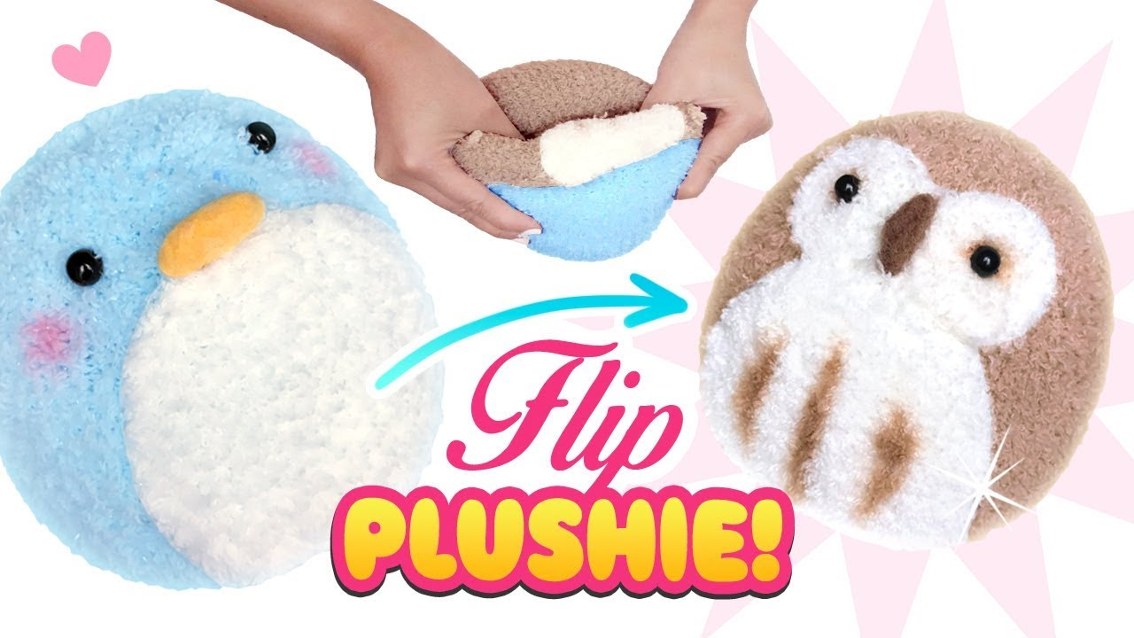 Diy Viral Reversible Plushie Owl Penguin Sock Plush Cute