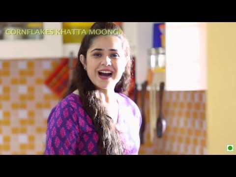 "Breakfast Recipe - Cornflakes Khatta Moong (Kellogg's Waale Guptaji ka ""Sanskar Wala Nashta"")"