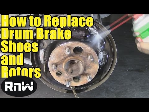 how to remove and replace drum brake shoes also how to remove stuck brake drums youtube. Black Bedroom Furniture Sets. Home Design Ideas