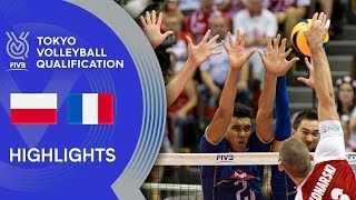 POLAND vs. FRANCE - Highlights Men | Volleyball Olympic Qualification 2019
