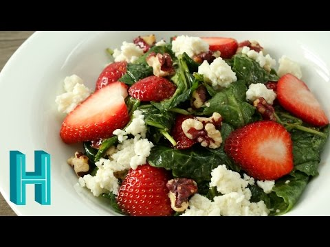 How to Make Strawberry Kale Salad | Hilah Cooking