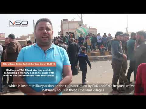 Protests calling for a military operation in Tal Rifaat