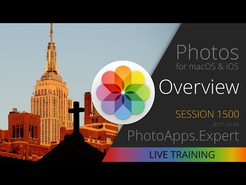 Apple Photos; OVERVIEW — PhotoApps.Expert Live Training 1500 SAMPLE
