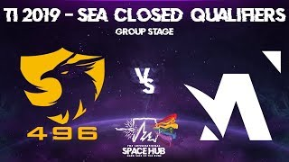 496 vs Amplfy - TI9 SEA Regional Qualifiers: Group Stage
