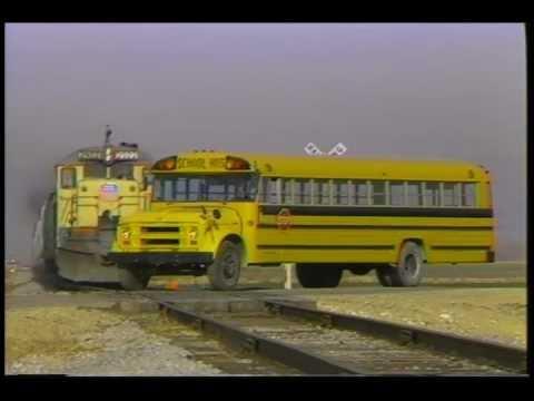 Train School Bus Crash Better Resolution Youtube