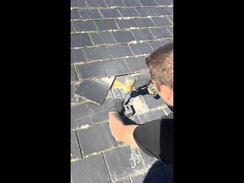 Safe & Protect Solar  Slate Roof Install