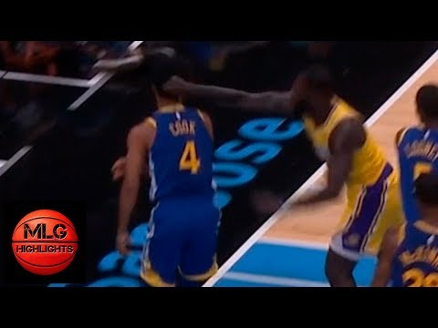 Lance Stephenson ejected from game | Lakers vs GS Warriors | 10.12.18