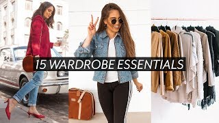 HOW TO BUILD YOUR WARDROBE WITH BASICS // 15 CLOSET STAPLES ♡