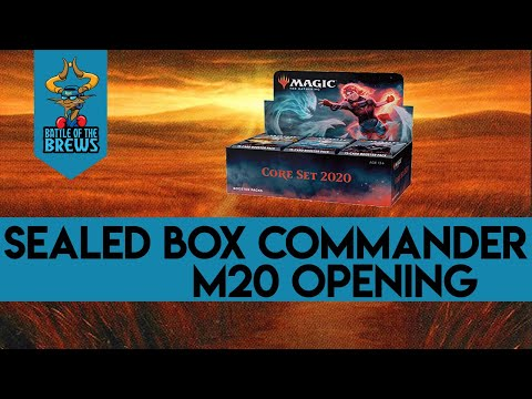 Sealed Box Commander part | M20 Booster Box Opening part 1 of 4 | Help Us Brew