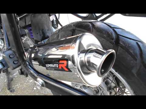Bmw 1150gs   Dominator exhaust sound no db killer