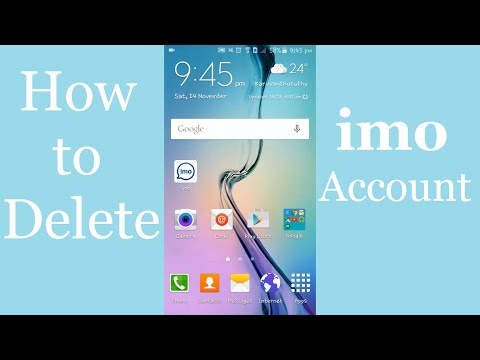How to Deactivate imo Account - Delete your imo Account