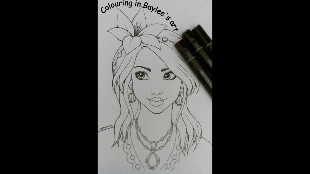 Doing a colouring page by Baylee