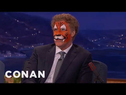 Will Ferrell Just Came From A Kid's Birthday Party   CONAN on TBS