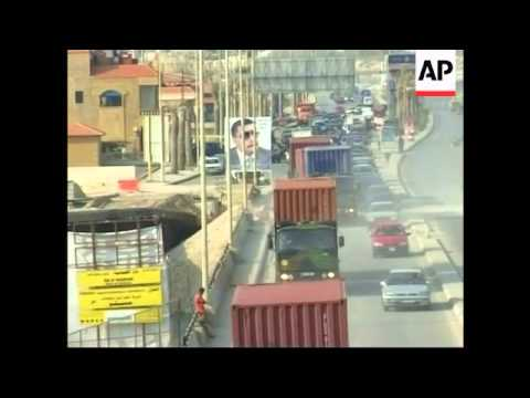 French military convoy in Beirut