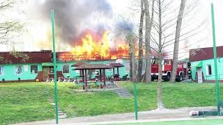 Banderoza - pożar 19.04.2018 r.