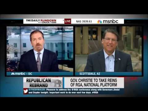 North Carolina Gov. Pat McCrory on MSNBC's Daily Rundown
