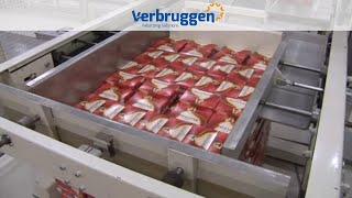 Palletizing | Automatic Palletizer machine by Verbruggen VPM-BL | low-level palletizer