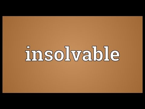 Header of insolvable