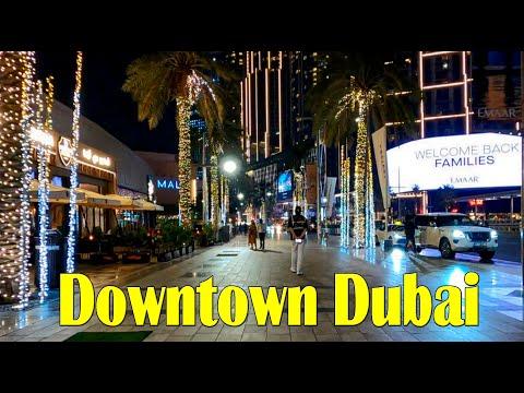 Dubai Downtown Complete Night Walk | Dubai Best Places | AN Vlogs 2021