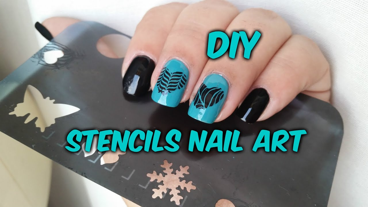 Diy Stencils Nail Art Konadicure Youtube Printable Wall For Canvas