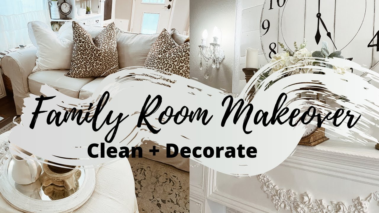 COZY FAMILY ROOM DECORATING IDEAS   FAMILY ROOM MAKEOVER 2020   CLEAN + DECORATE   MONICA ROSE