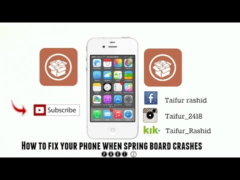 How to fix your phone when your springboard crashes part 2