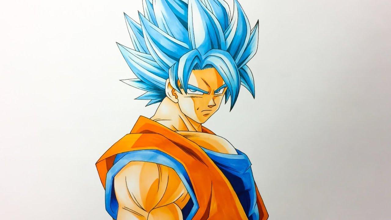 孫悟空 超サイヤ人ブルー 描いてみたdrawing Goku Super Saiyan Blue
