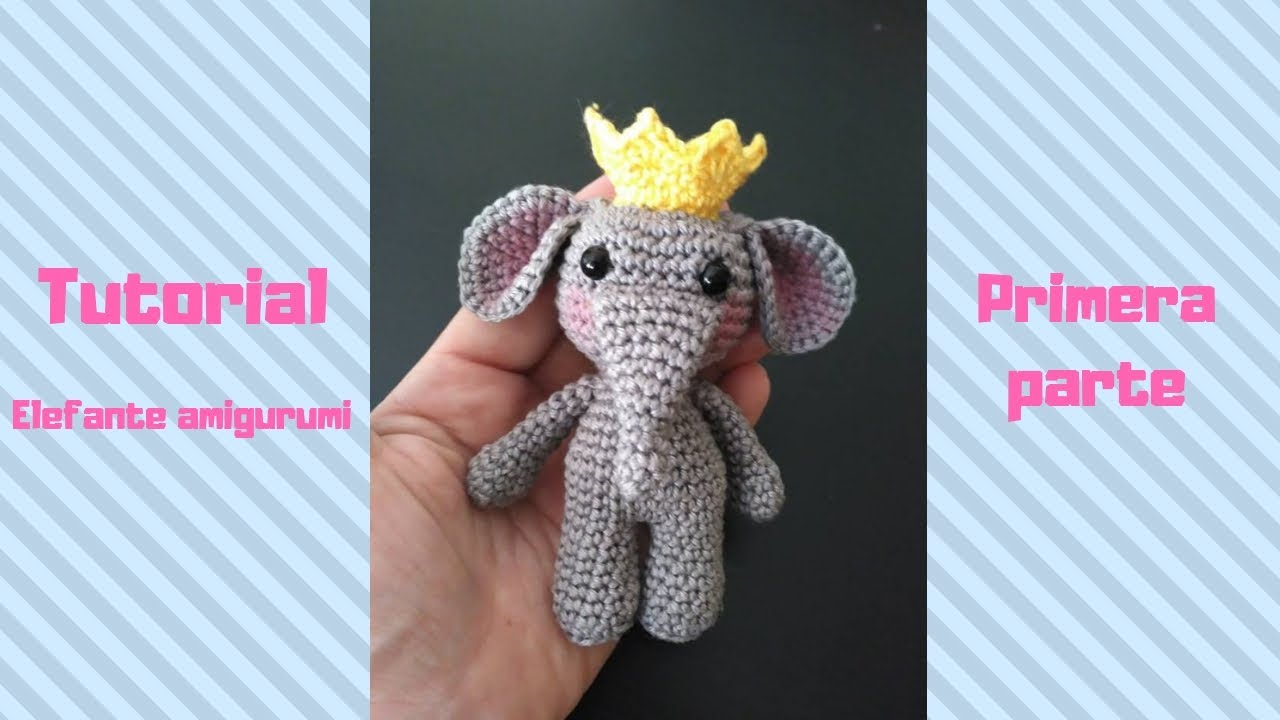 Receitinha 4 - Elefante Amigurumi parte final - YouTube | 720x1280