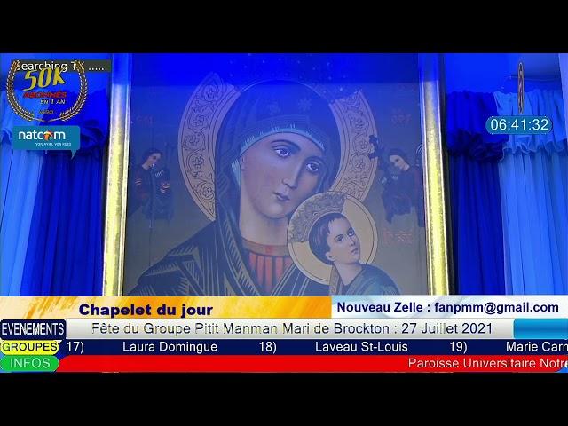Lundi 21 Juin 2021 - Chapelet