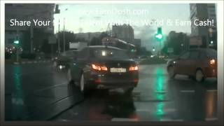 Time Travel Ghost Car Appears & Causes Accident in Moscow